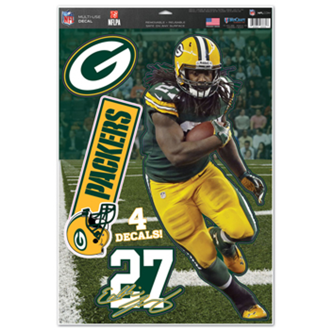 Green Bay Packers Eddie Lacy Decal 11x17 Multi Use