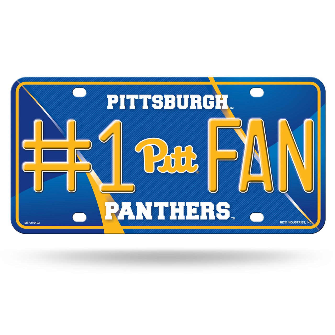 Pittsburgh Panthers License Plate #1 Fan Alternate Design