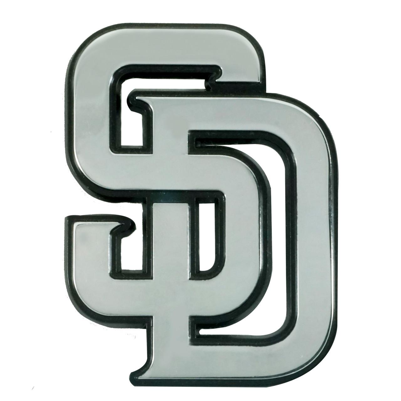 San Diego Padres Auto Emblem Premium Metal Chrome Special Order