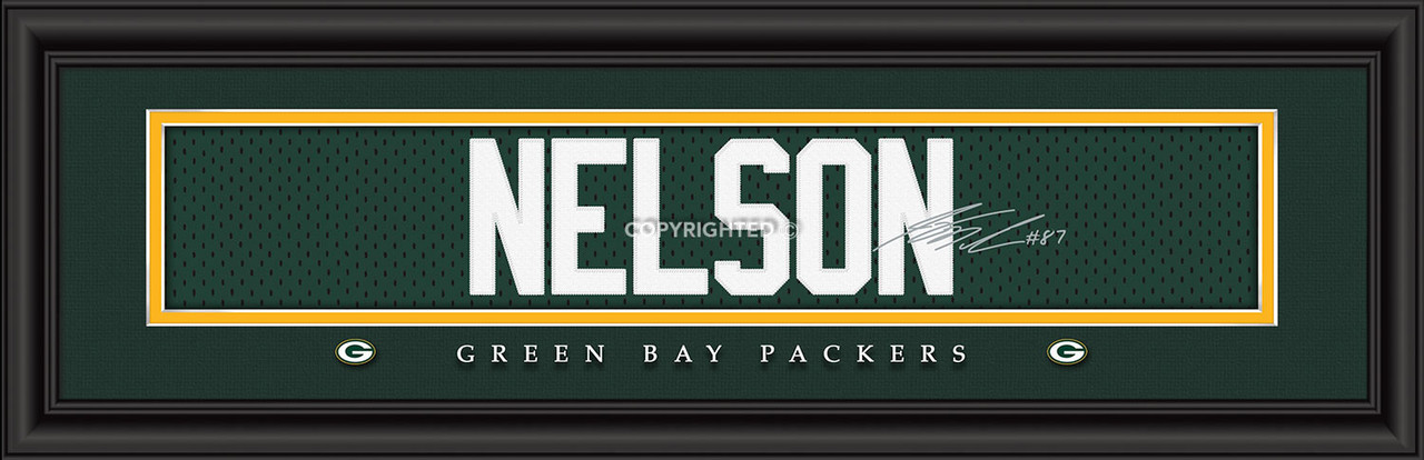Green Bay Packers Print 8x24 Signature Style Jordy Nelson