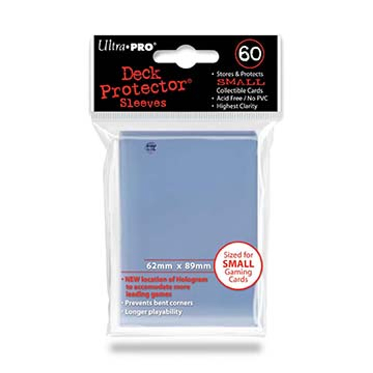 Deck Protectors - Small Size- Clear (One Pack of 60)