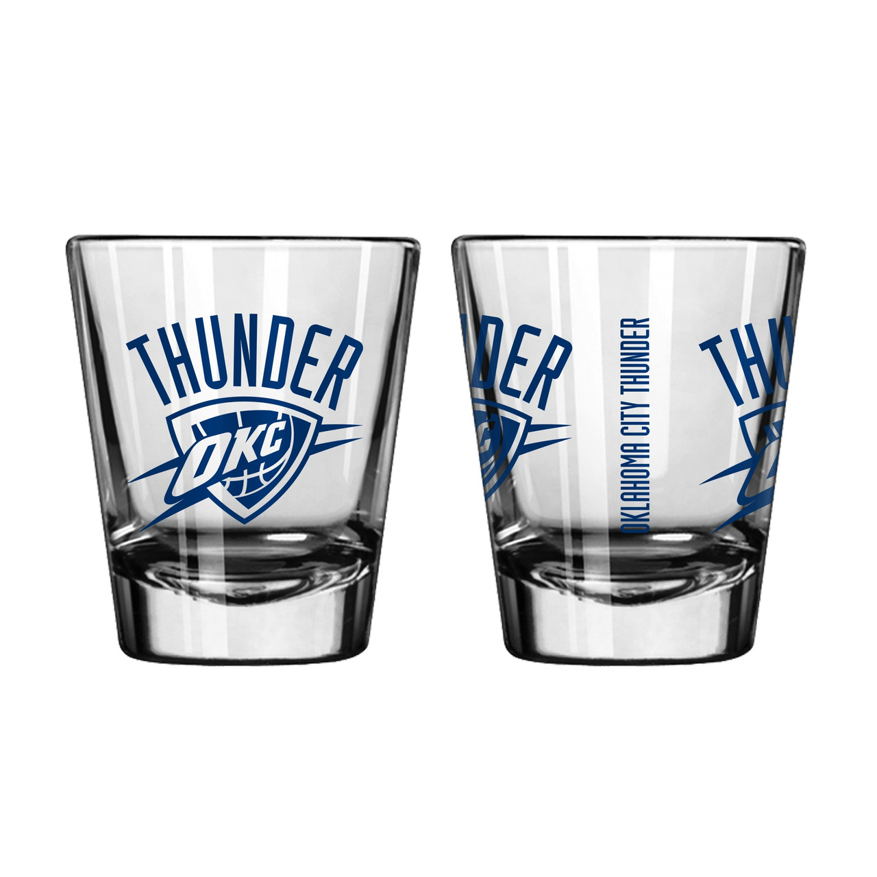 Oklahoma City Thunder Shot Glass Game Day Style 2 Pack Special Order