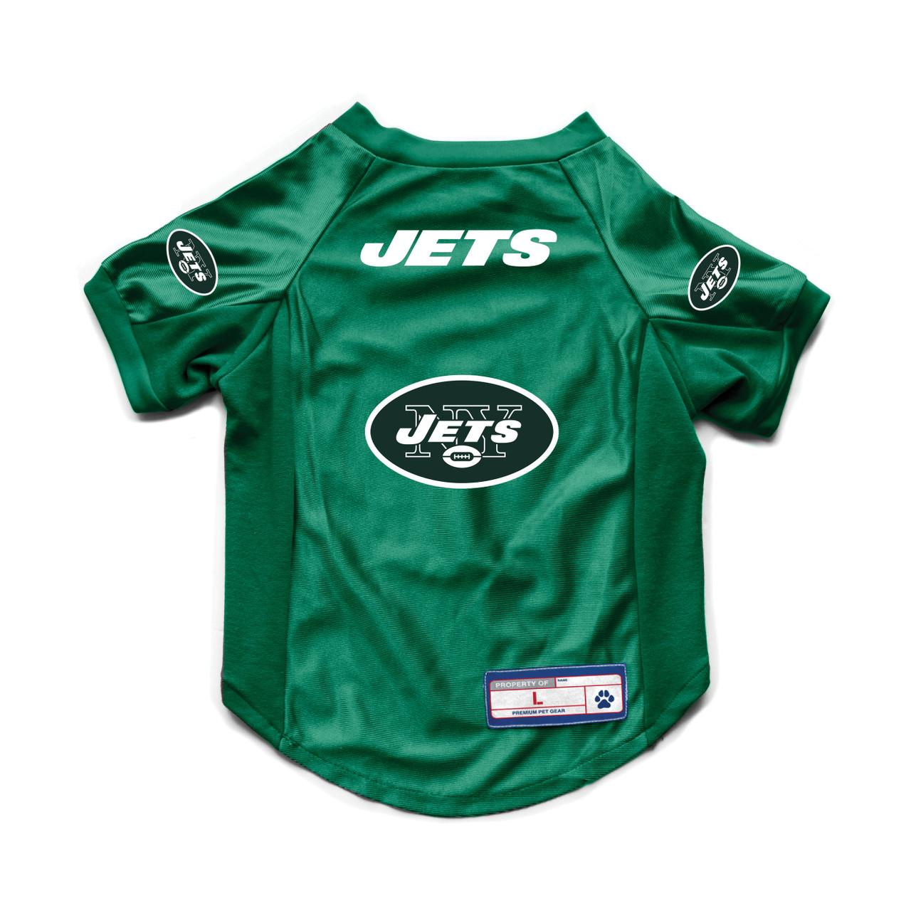 New York Jets Pet Jersey Stretch Size L Alternate