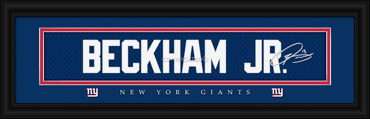 New York Giants Print 8x24 Signature Style Odell Beckham Jr
