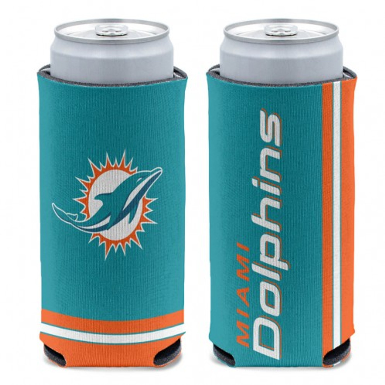 Miami Dolphins Can Cooler Slim Can Design Special Order
