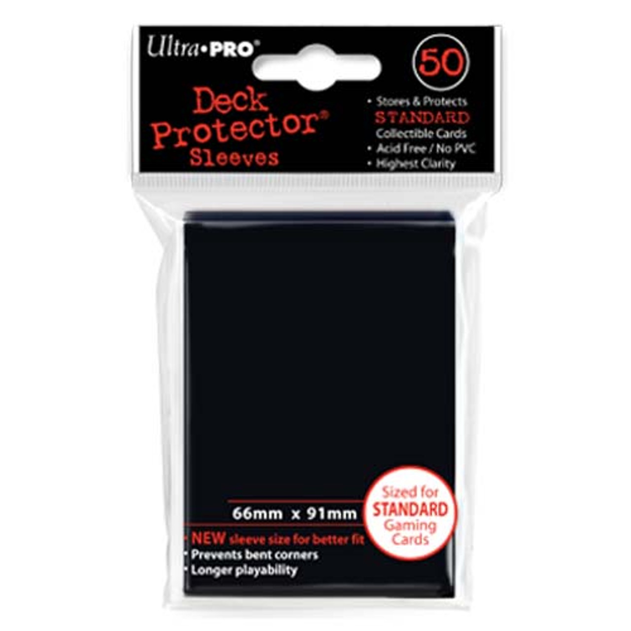 Deck Protectors - Solid - Black (One Pack of 50)