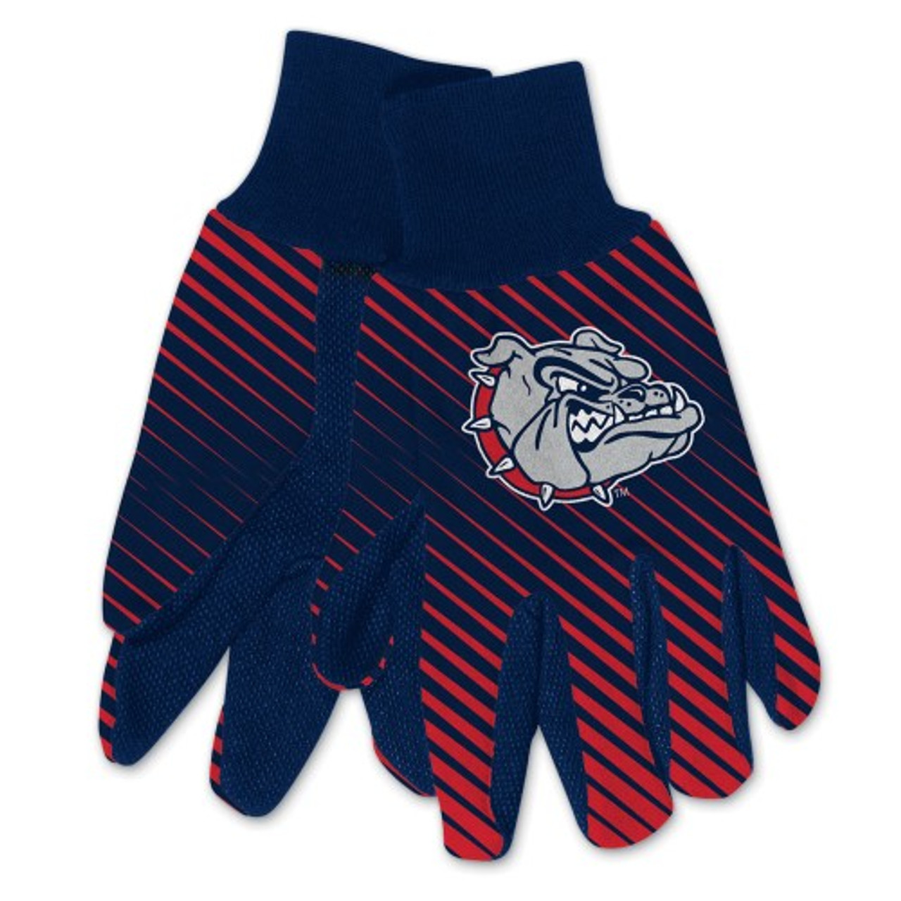 Gonzaga Bulldogs Gloves Two Tone Style Adult Size - Special Order