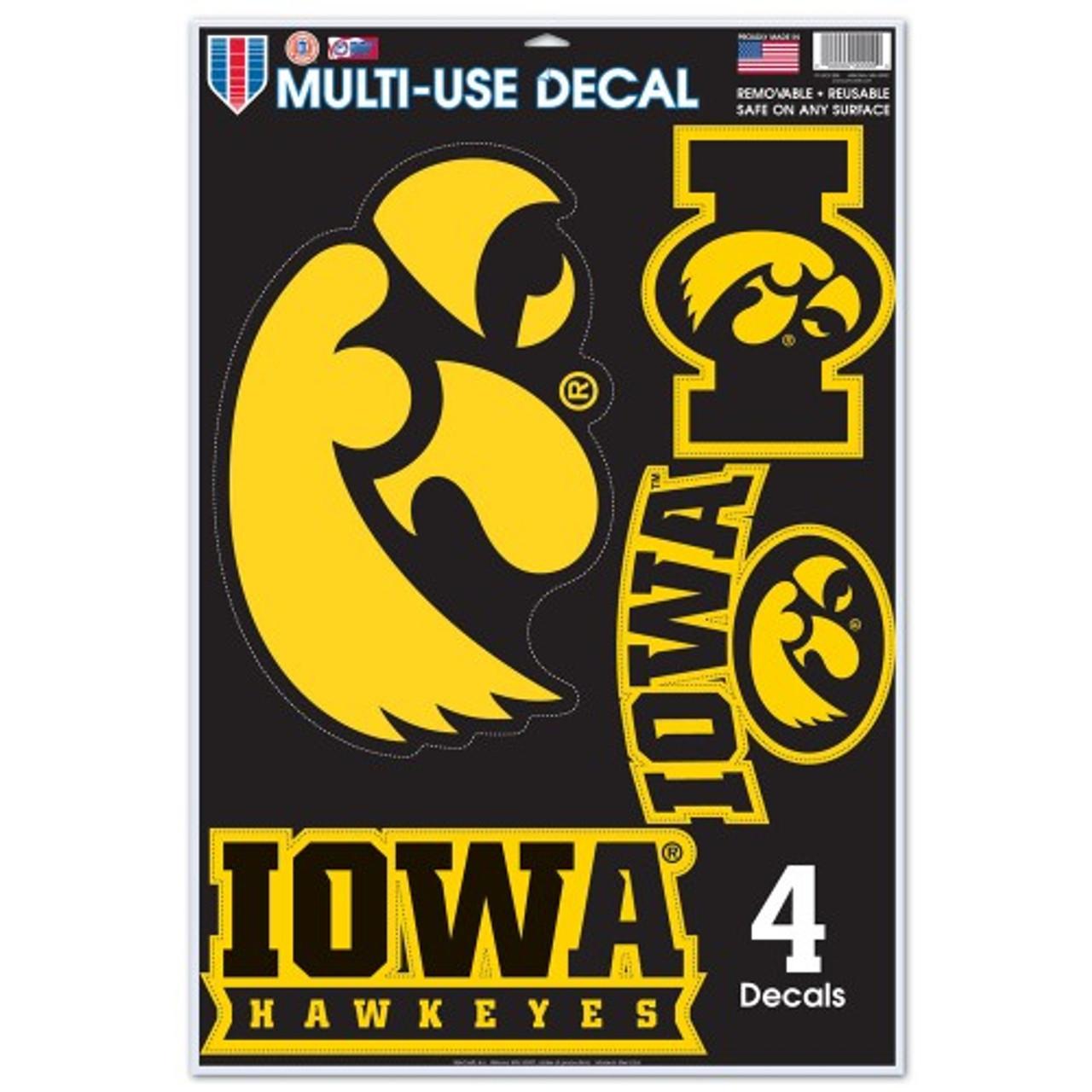 Iowa Hawkeyes Decal 11x17 Multi Use Special Order