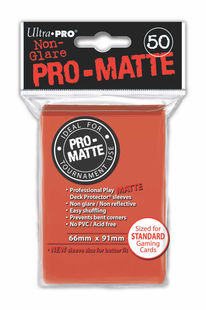 Deck Protectors - Pro-Matte - Peach (One Pack of 50)