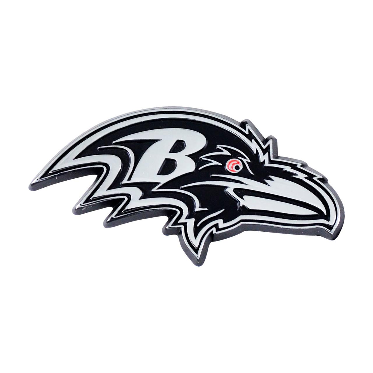 Baltimore Ravens Auto Emblem Premium Metal Chrome