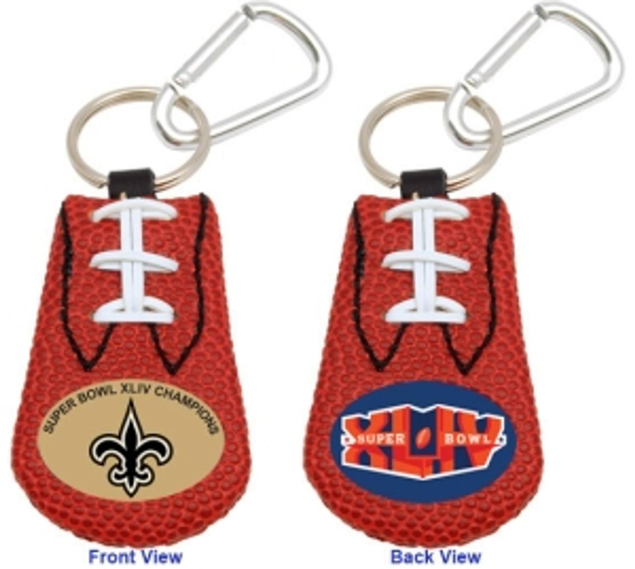 New Orleans Saints Football Keychain - Super Bowl 44 Champs