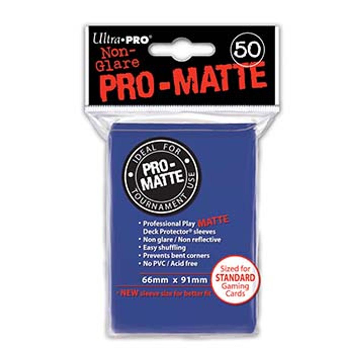 Deck Protectors - Pro-Matte - Blue (One Pack of 50)