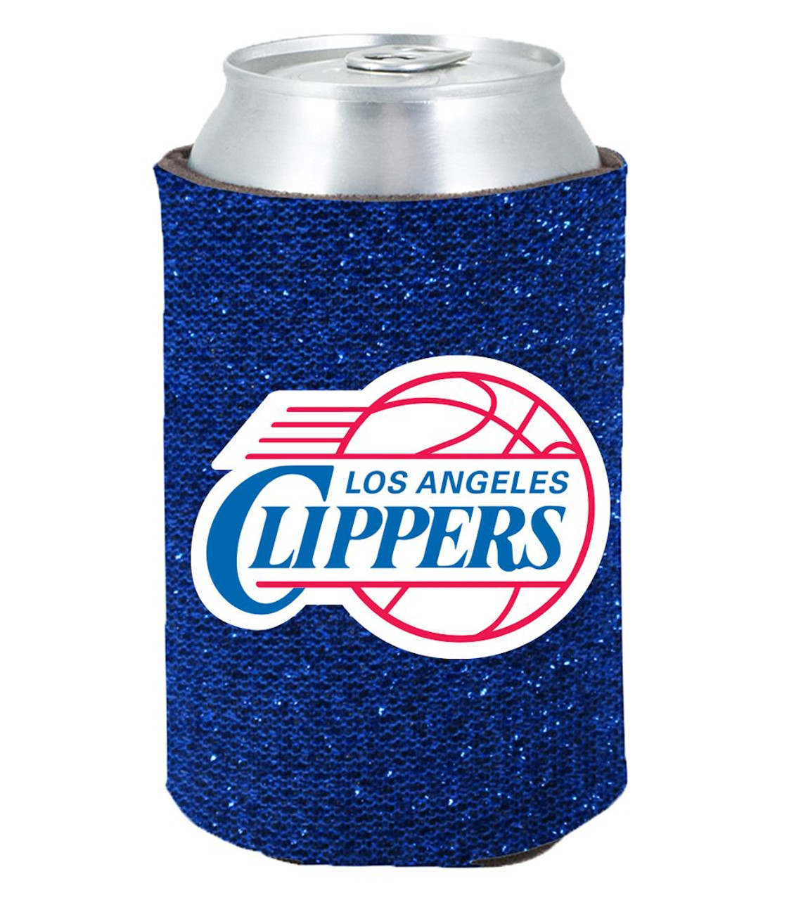 Los Angeles Clippers Kolder Kaddy Can Holder Glitter Blue Special Order