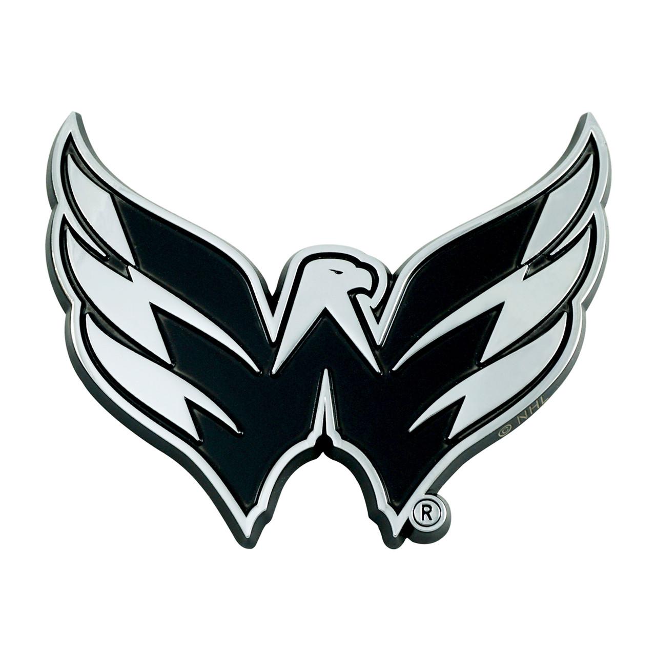 Washington Capitals Auto Emblem Premium Metal Chrome Special Order