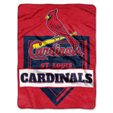 St. Louis Cardinals Blanket 60x80 Raschel Home Plate Design