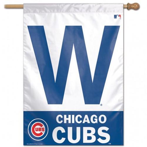 Chicago Cubs Banner 28x40 Vertical W Design