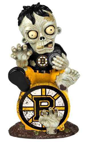 Boston Bruins Zombie Figurine - On Logo