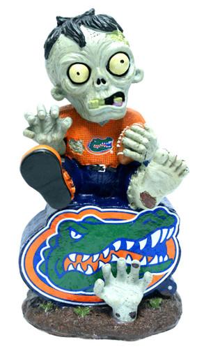 Florida Gators Zombie On Logo with Football Figurine