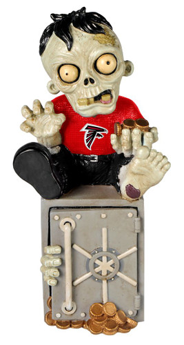 Atlanta Falcons Zombie Figurine Bank