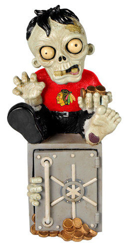 Chicago Blackhawks Zombie Figurine Bank