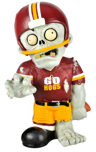 Arkansas Razorbacks Zombie Figurine - Thematic w/Football