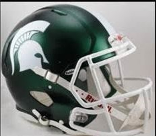Michigan State Spartans Deluxe Replica Speed Helmet - Satin Shell