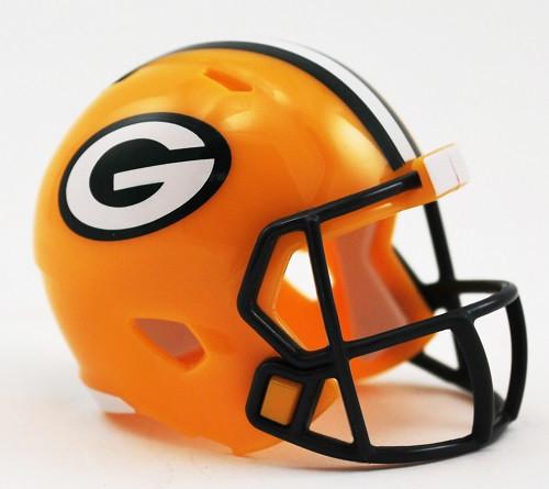 Green Bay Packers Helmet Riddell Pocket Pro Speed Style