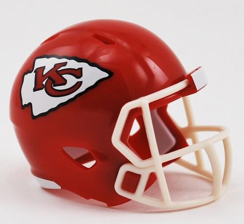 Kansas City Chiefs Helmet Riddell Pocket Pro Speed Style