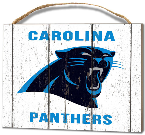 Carolina Panthers Small Plaque - Weathered Logo