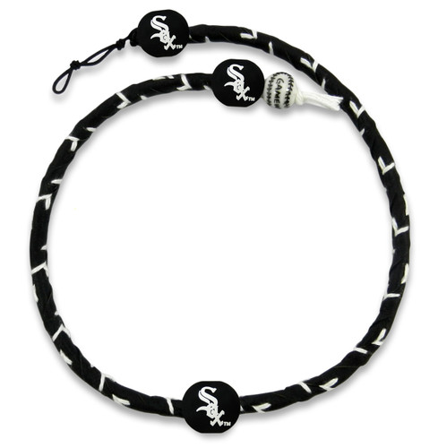 Chicago White Sox Team Color Frozen Rope Baseball Necklace