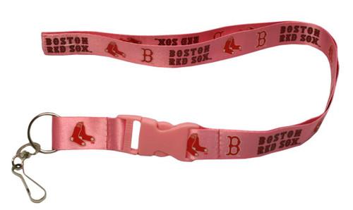 Boston Red Sox Lanyard - Breakaway with Key Ring - Pink