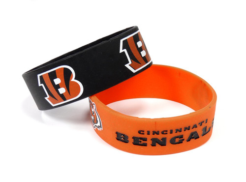 Cincinnati Bengals Bracelets 2 Pack Wide