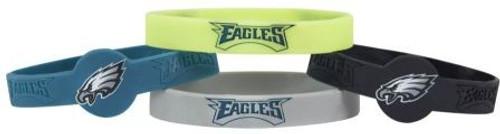 Philadelphia Eagles Bracelets 4 Pack Silicone