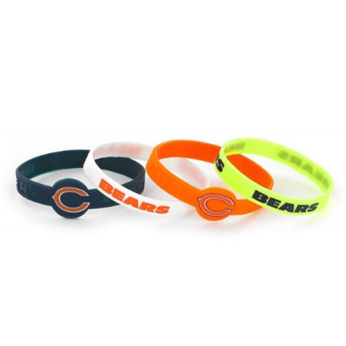 Chicago Bears Bracelets 4 Pack Silicone