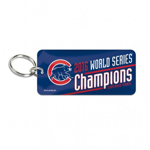 Chicago Cubs Key Ring - Glossy - 2016 World Series Champs