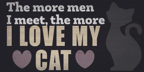 """Pet Sign Wood I Love My Cat 10""""x5"""""""