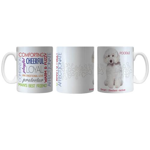 Pet Coffee Mug 11oz Poodle White