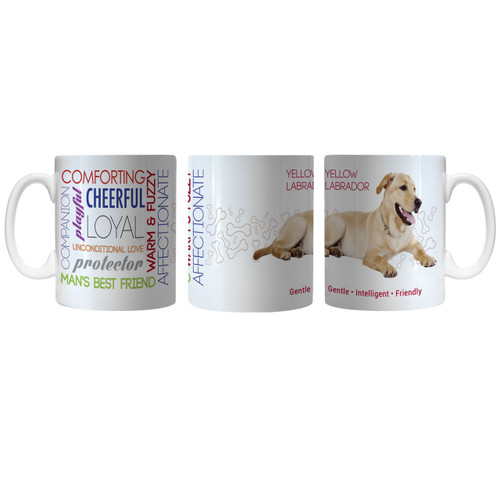 Pet Coffee Mug 11oz Yellow Labrador