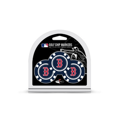 Boston Red Sox Golf Chip with Marker 3 Pack