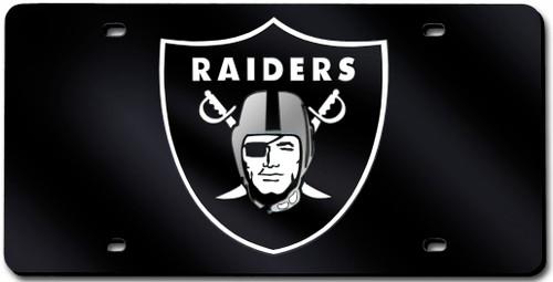 Oakland Raiders License Plate Laser Cut Black