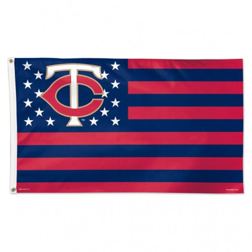 Minnesota Twins Flag 3x5 Deluxe Style Stars and Stripes Design