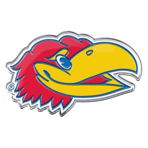 Kansas Jayhawks Auto Emblem Color Alternate Logo