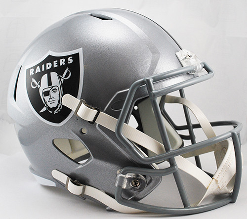 Oakland Raiders Helmet Riddell Replica Full Size Speed Style