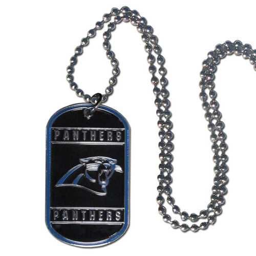 Carolina Panthers Necklace Tag Style