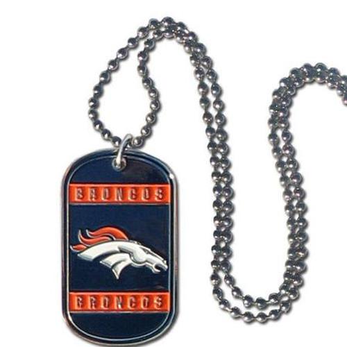 Denver Broncos Necklace Tag Style