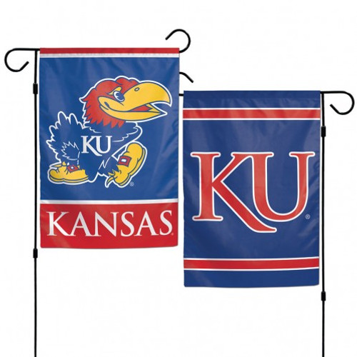 Kansas Jayhawks Flag 12x18 Garden Style 2 Sided