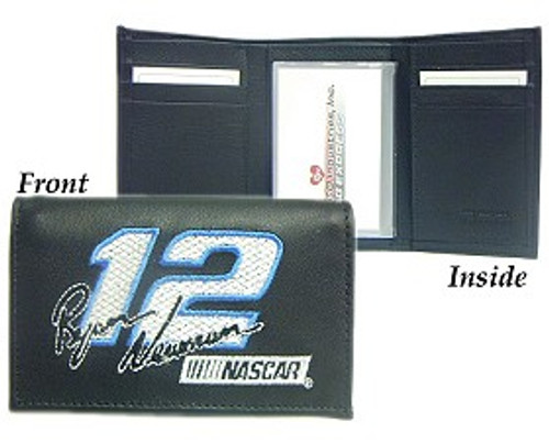 Ryan Newman Wallet Trifold Embroidered Leather