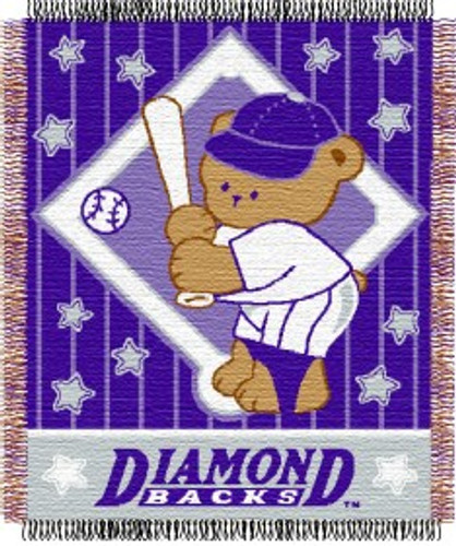 Arizona Diamondbacks Blanket 36x48 Woven Baby Throw Special Order