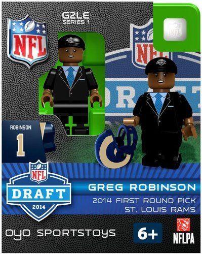 Los Angeles Rams Figurine 2014 Draft Pick OYO Sportstoys Greg Robinson St. Louis Throwback