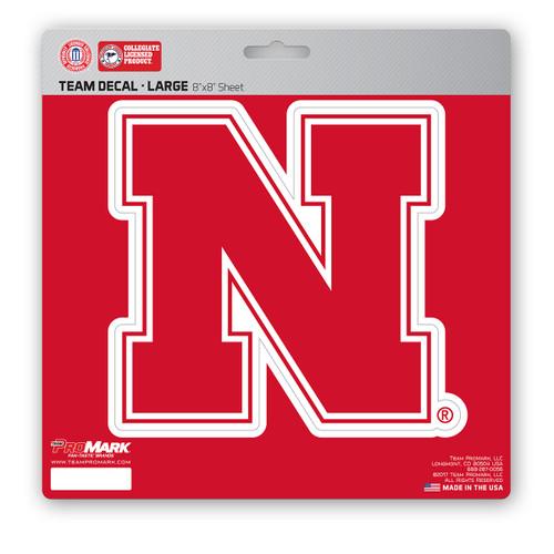 Nebraska Cornhuskers Decal 8x8 Die Cut